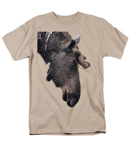 Men's T-Shirt  (Regular Fit) featuring the painting Alaskan Moose by Diane E Berry