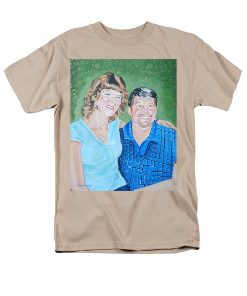 Alicia And Lee Men's T-Shirt  (Regular Fit) by John Keaton