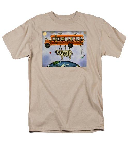 Alien Transport System Men's T-Shirt  (Regular Fit) by Leah Saulnier The Painting Maniac