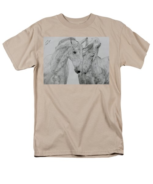 Men's T-Shirt  (Regular Fit) featuring the drawing All You Need Is Love by Melita Safran