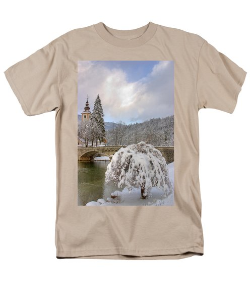 Men's T-Shirt  (Regular Fit) featuring the photograph Alpine Winter Beauty by Ian Middleton