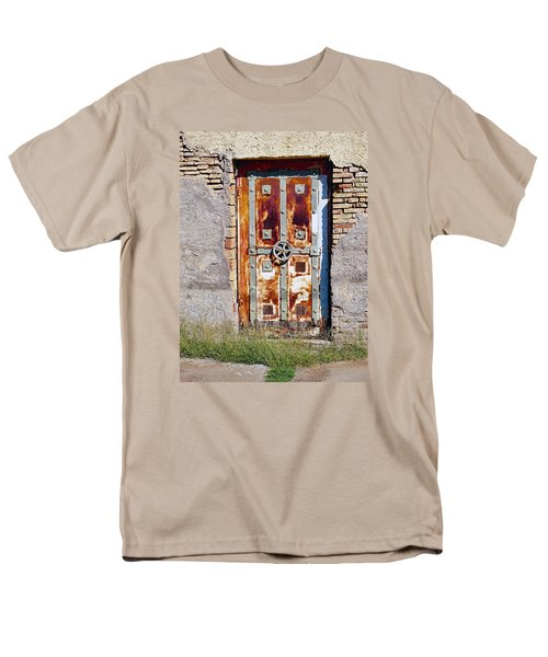 An Old Rusty Door In Katakolon Greece Men's T-Shirt  (Regular Fit) by Richard Rosenshein