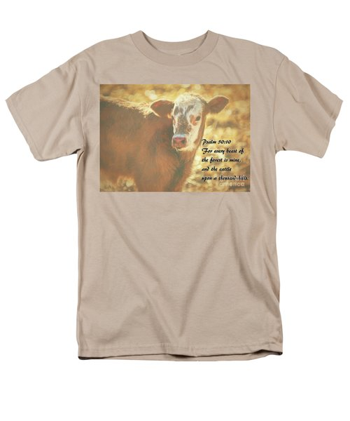 And The Cattle Men's T-Shirt  (Regular Fit) by Janice Rae Pariza