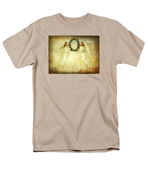 Angels Christmas Card Or Print Men's T-Shirt  (Regular Fit) by Bellesouth Studio