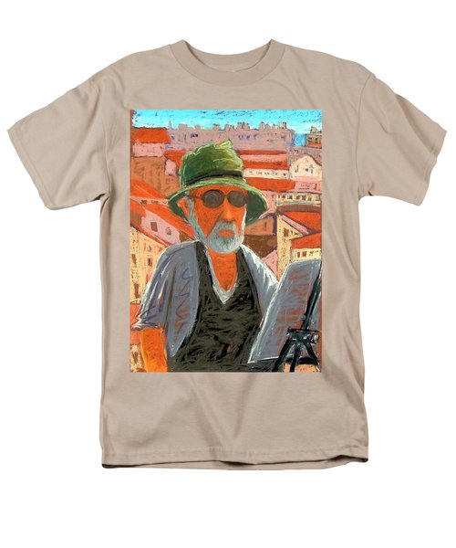 Men's T-Shirt  (Regular Fit) featuring the painting Antibes Self by Gary Coleman