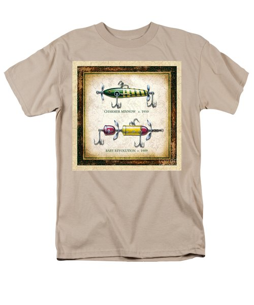 Men's T-Shirt  (Regular Fit) featuring the painting Antique Lure Panel One by JQ Licensing Jon Q Wright