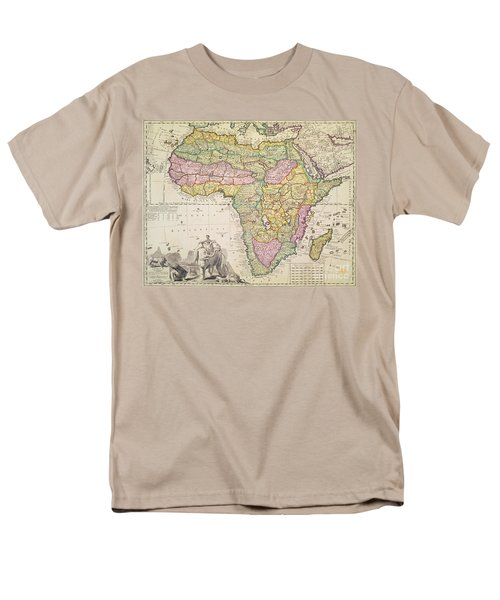 Antique Map Of Africa Men's T-Shirt  (Regular Fit) by Pieter Schenk