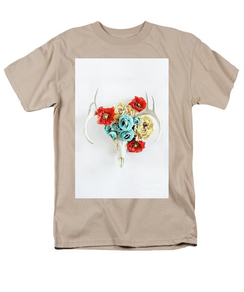 Men's T-Shirt  (Regular Fit) featuring the photograph Antlers And Florals by Stephanie Frey