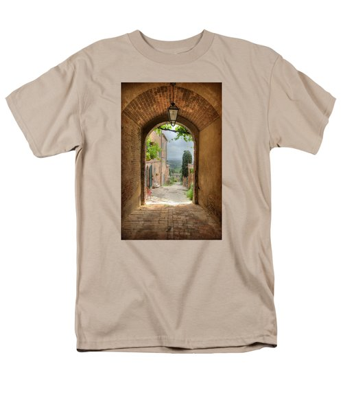 Men's T-Shirt  (Regular Fit) featuring the photograph Arched View by Uri Baruch