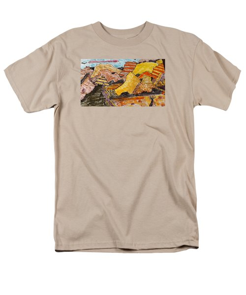 Men's T-Shirt  (Regular Fit) featuring the drawing Arizona Canyons by Don Koester