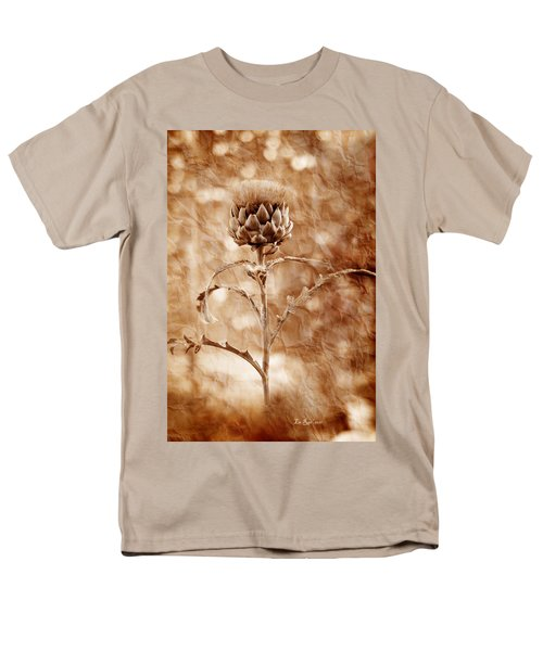 Artichoke Bloom Men's T-Shirt  (Regular Fit) by La Rae  Roberts