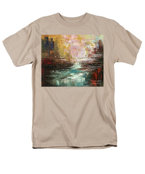Men's T-Shirt  (Regular Fit) featuring the painting Artist Whitewater by Tatiana Iliina