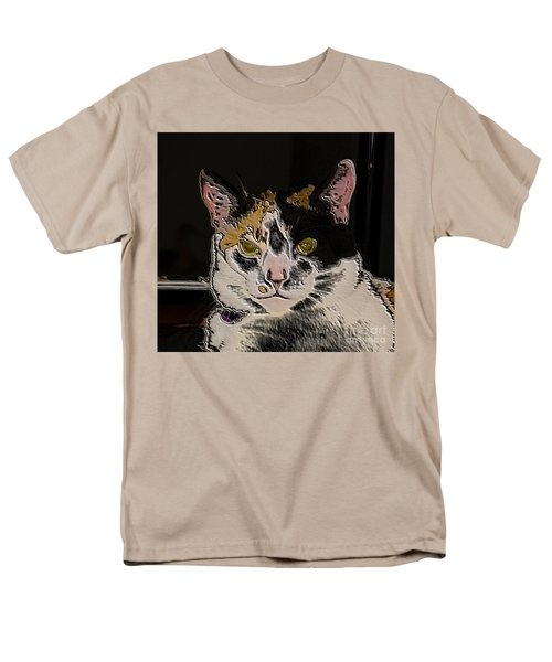 Artistic Cat Men's T-Shirt  (Regular Fit) by Marilyn Carlyle Greiner