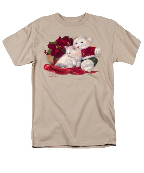 Christmas Kitten Men's T-Shirt  (Regular Fit) by Lucie Bilodeau
