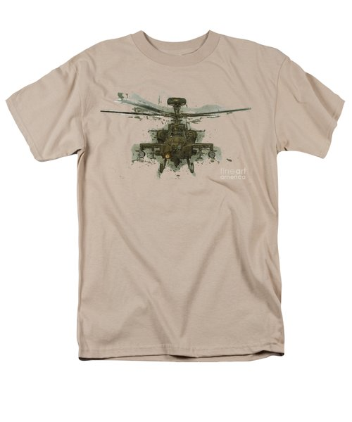 Apache Helicopter Abstract Men's T-Shirt  (Regular Fit) by Roy Pedersen