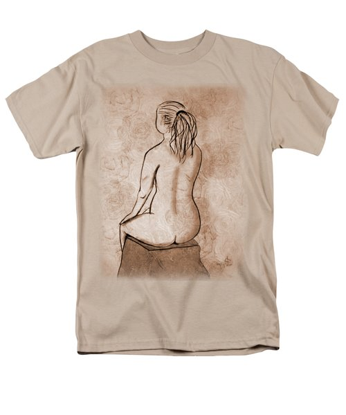 Life Drawing 1 Men's T-Shirt  (Regular Fit) by Linda Lees