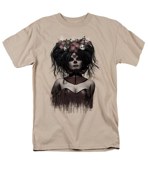 Men's T-Shirt  (Regular Fit) featuring the digital art La Catrina by Shanina Conway