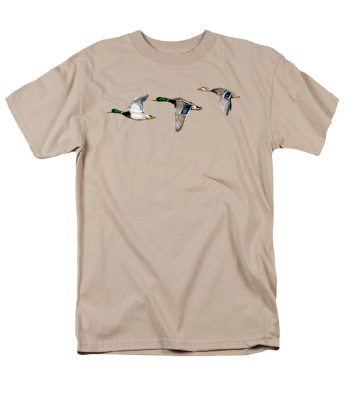 Flying Mallards Men's T-Shirt  (Regular Fit) by Sarah Batalka