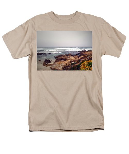 Asilomar Beach Pacific Grove Ca Usa Men's T-Shirt  (Regular Fit) by Joyce Dickens