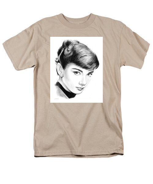 Audrey Hepburn Men's T-Shirt  (Regular Fit) by Greg Joens