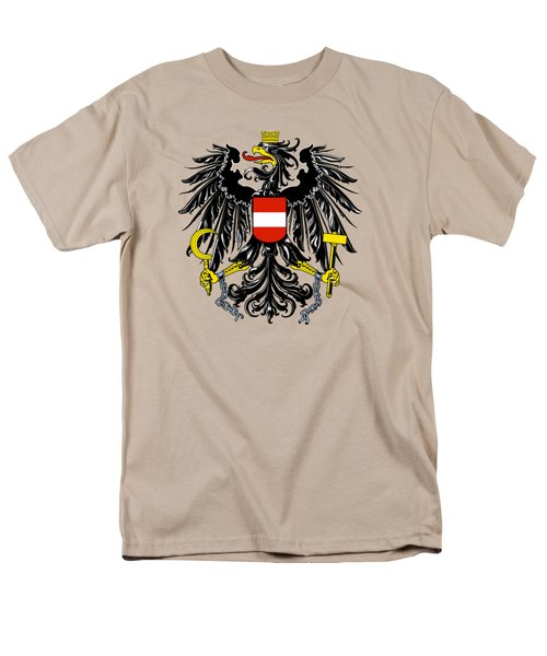Men's T-Shirt  (Regular Fit) featuring the drawing Austria Coat Of Arms by Movie Poster Prints