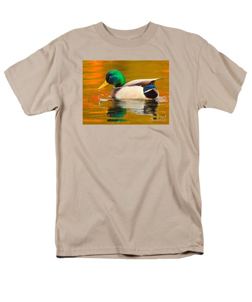 Men's T-Shirt  (Regular Fit) featuring the photograph Autumn Duck by Debbie Stahre