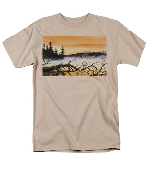 Men's T-Shirt  (Regular Fit) featuring the painting Autumn Sunset Mist by James Williamson