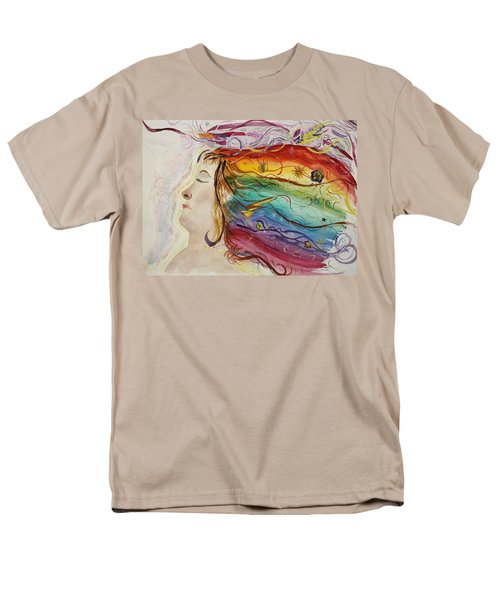 Men's T-Shirt  (Regular Fit) featuring the painting Awakening Consciousness by Donna Walsh