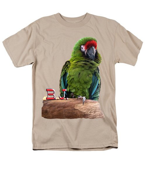 B. J., The Military Macaw Men's T-Shirt  (Regular Fit) by Zazu's House Parrot Sanctuary