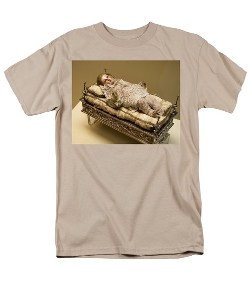 Men's T-Shirt  (Regular Fit) featuring the photograph Baby Jesus In Lace by Lorraine Devon Wilke