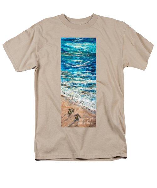 Baby Sea Turtles I Men's T-Shirt  (Regular Fit) by Linda Olsen