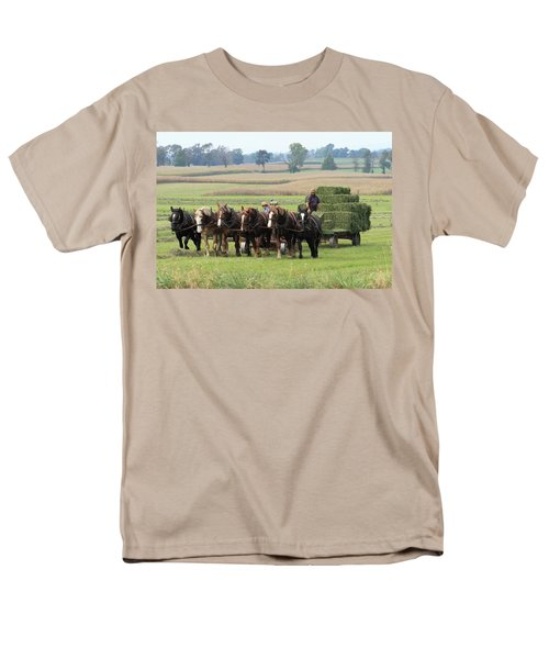 Baling The Hay Men's T-Shirt  (Regular Fit) by Lou Ford
