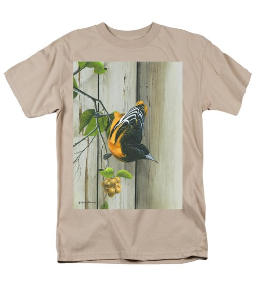 Men's T-Shirt  (Regular Fit) featuring the painting Baltimore Oriole by Mike Brown