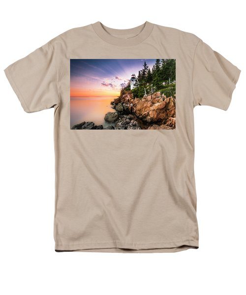 Bass Harbor Lighthouse Sunset Men's T-Shirt  (Regular Fit) by Ranjay Mitra