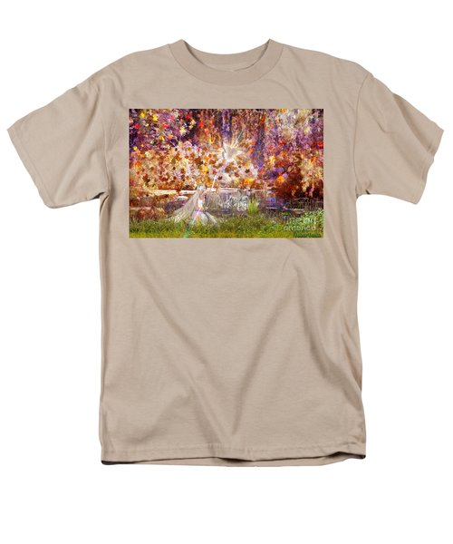Men's T-Shirt  (Regular Fit) featuring the digital art Be Still And Know by Dolores Develde