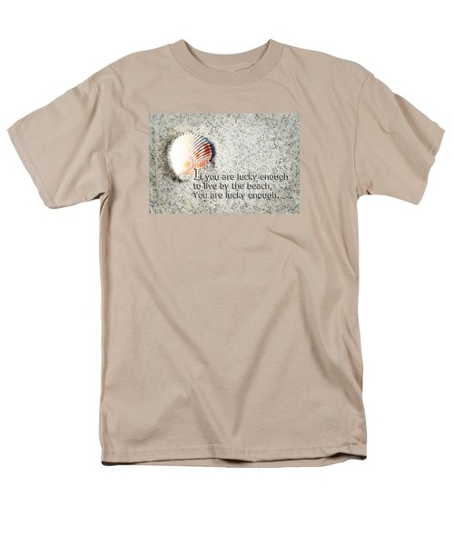 Beach Art - Lucky Enough - Sharon Cummings Men's T-Shirt  (Regular Fit) by Sharon Cummings