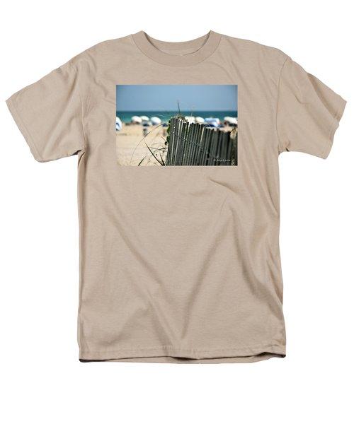 Beach Fence Men's T-Shirt  (Regular Fit) by Edgar Torres