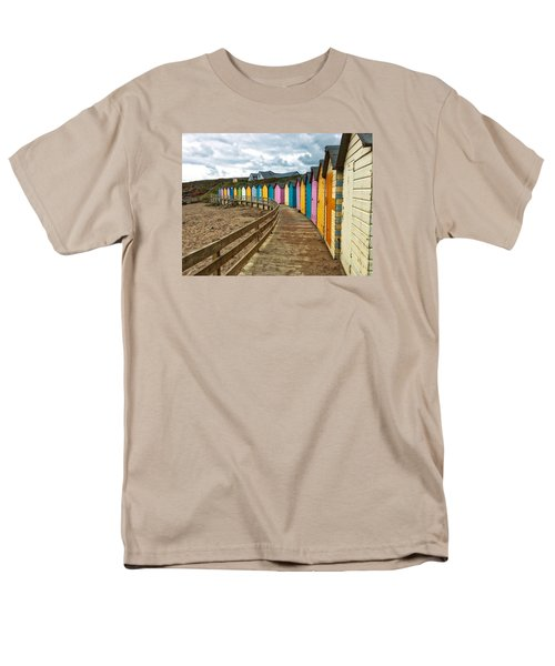 Men's T-Shirt  (Regular Fit) featuring the photograph Beach Huts by RKAB Works