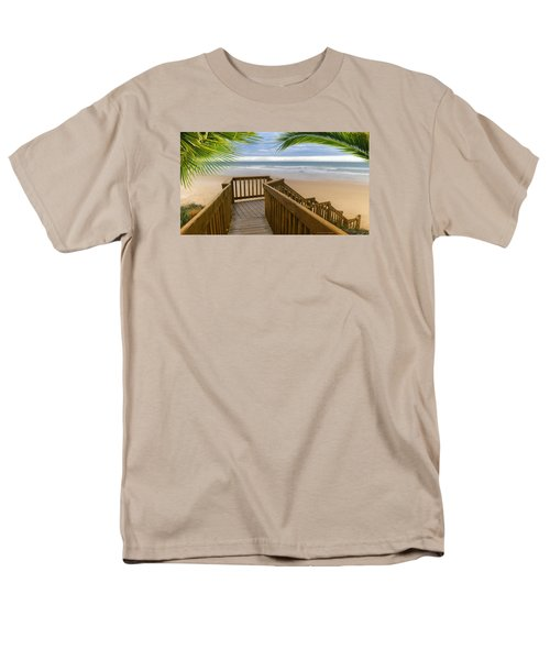 Men's T-Shirt  (Regular Fit) featuring the photograph Beach Paradise 001 by Kevin Chippindall