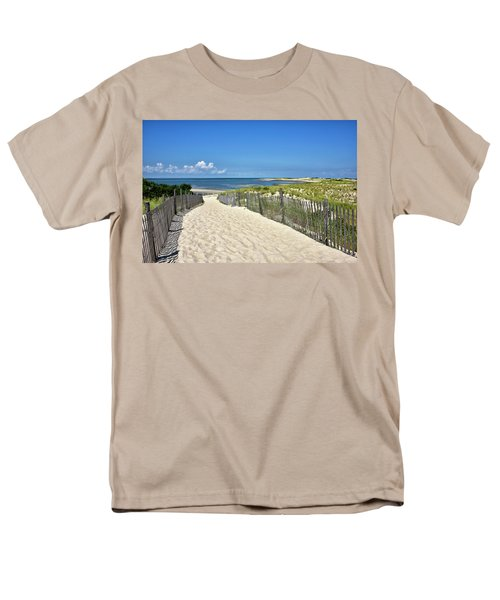 Beach Path At Cape Henlopen State Park - The Point - Delaware Men's T-Shirt  (Regular Fit) by Brendan Reals