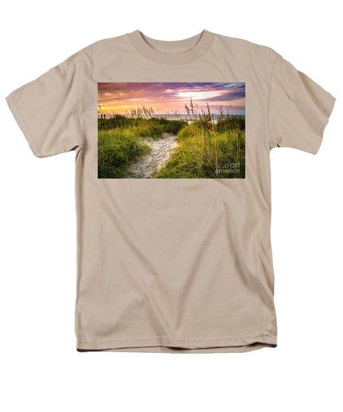 Beach Path Sunrise Men's T-Shirt  (Regular Fit) by David Smith