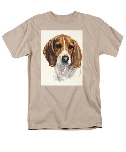Beagle Men's T-Shirt  (Regular Fit) by Barbara Keith