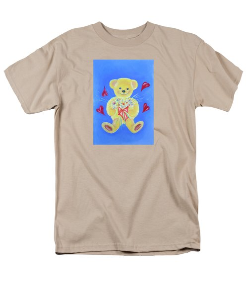 Bear With Flowers Men's T-Shirt  (Regular Fit)