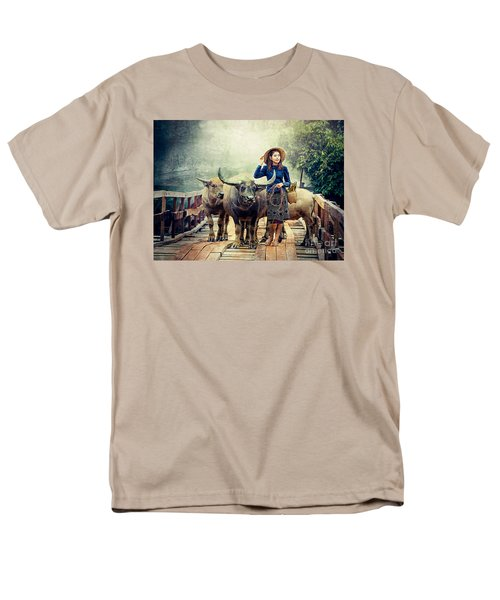 Beauty And The Water Buffalo Men's T-Shirt  (Regular Fit) by Ian Gledhill