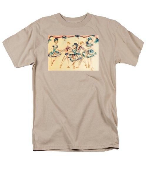 Beauty In Blue Ballet  Men's T-Shirt  (Regular Fit) by Judith Desrosiers