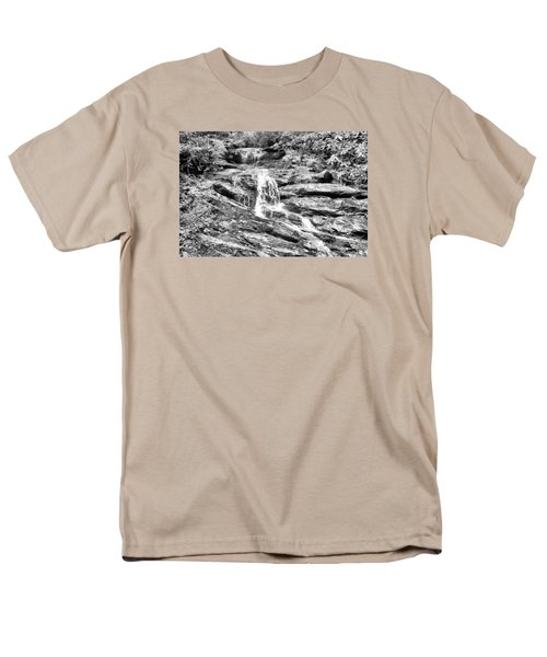 Becky Branch Falls In Black And White Men's T-Shirt  (Regular Fit) by James Potts