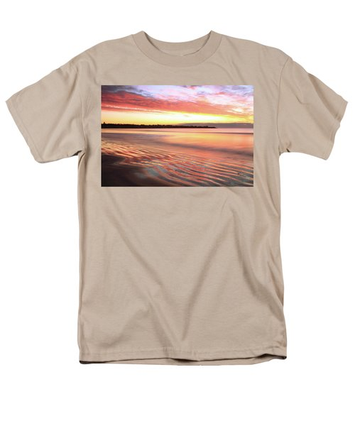 Men's T-Shirt  (Regular Fit) featuring the photograph Before Sunrise At First Beach by Roupen  Baker