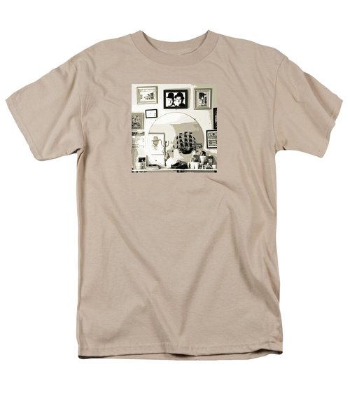 Men's T-Shirt  (Regular Fit) featuring the photograph Behind The Barber Chair by Joe Jake Pratt