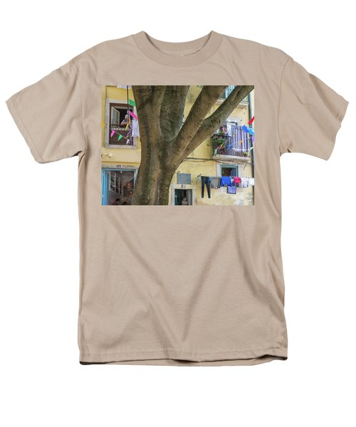 Men's T-Shirt  (Regular Fit) featuring the photograph Behind The Tree by Patricia Schaefer