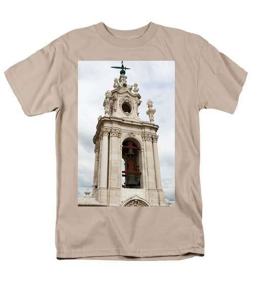 Men's T-Shirt  (Regular Fit) featuring the photograph Bell Tower With Red   by Lorraine Devon Wilke